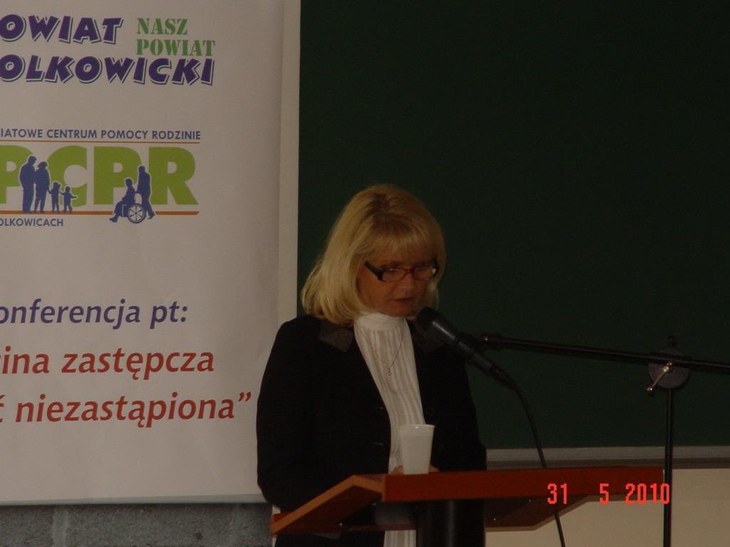 Elżbieta Sworacka – Dul – Dyrektor PCPR podsumowująca spotkanie