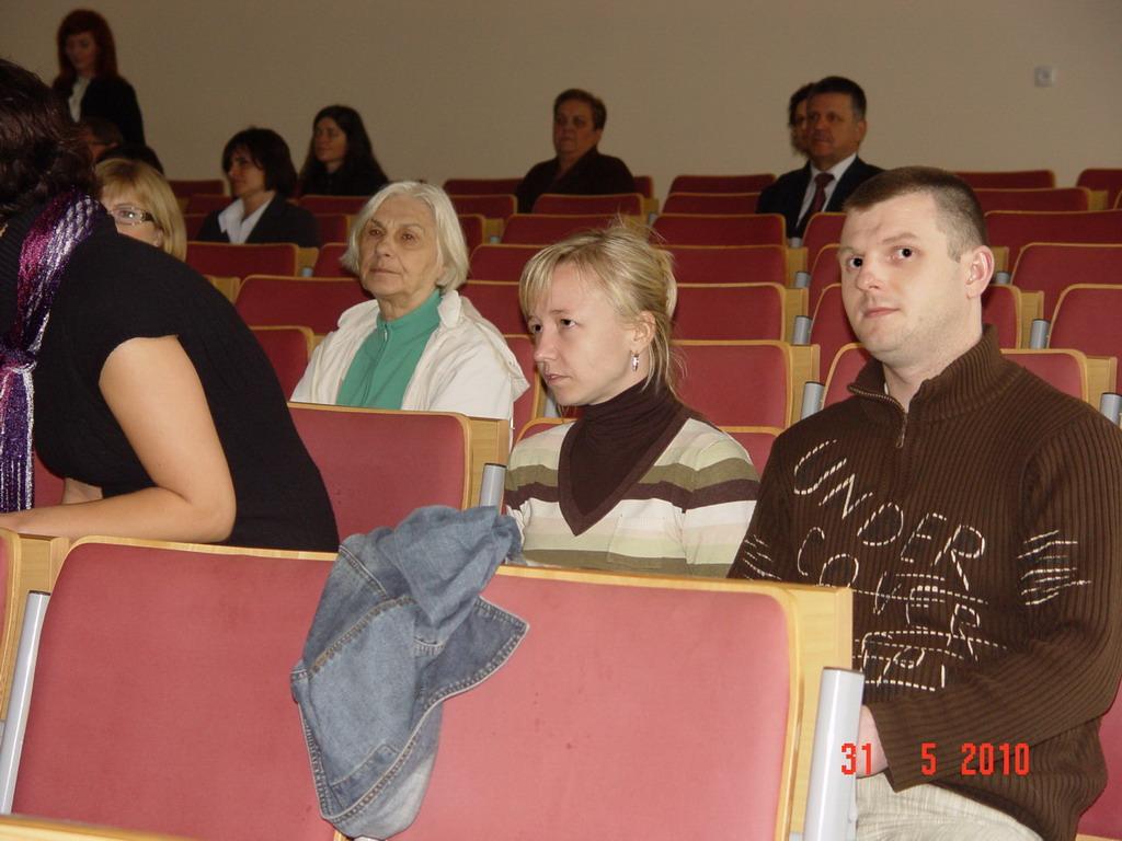 zaproszeni goście w trakcie prelekcji Dyrektora