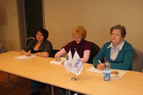 Uczestniczki Projektu podczas zajęć z doradcą zawodowym.